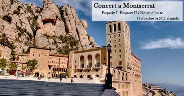 cartell concert corals infantils Montserrat